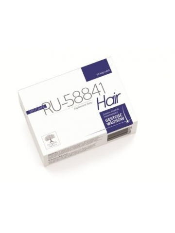 Natural RU-58841 Hair (wspomaga gęstość włosów) (60 kapsułek) - suplement diety
