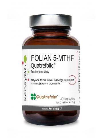 FOLIAN 5-MTHF (aktywny kwas foliowy) Quatrefolic® (30 kapsułek) - suplement diety