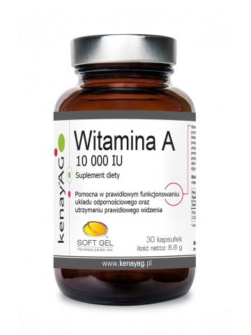 Witamina A 10 000 IU (30 kapsułek) - suplement diety