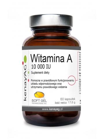 Witamina A 10 000 IU (60 kapsułek) - suplement diety