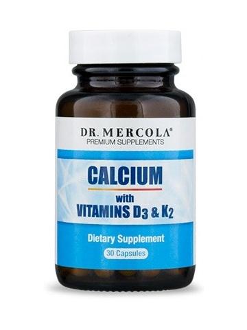 Wapń z witaminą D3 i K2 (60 kapsułek) Dr Mercola - suplement diety