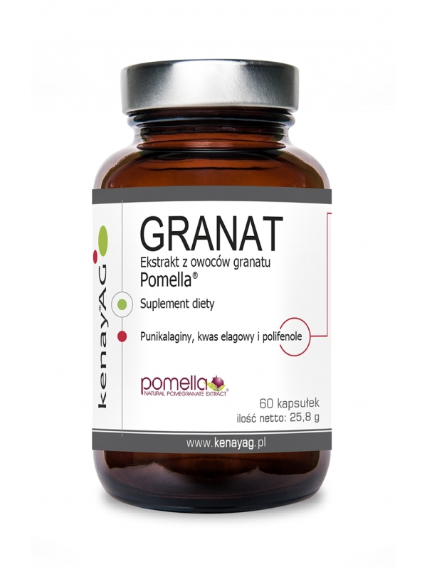 GRANAT ekstrakty z owoców granatu POMELLA® (60 kapsułek) - suplement diety