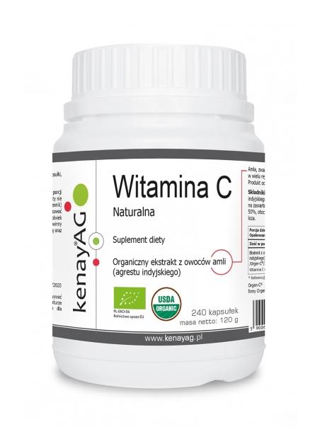 Witamina C naturalna (240 kapsułek) - suplement diety