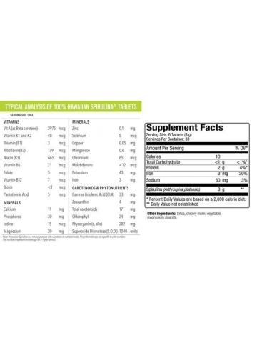 Hawaiian Spirulina® SPIRULINA HAWAJSKA PACIFICA 500 mg (200 tabletek) - suplement diety