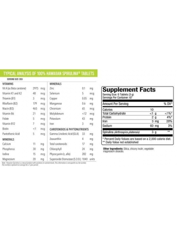 Hawaiian Spirulina® SPIRULINA HAWAJSKA PACIFICA 500 mg (400 tabletek) - suplement diety