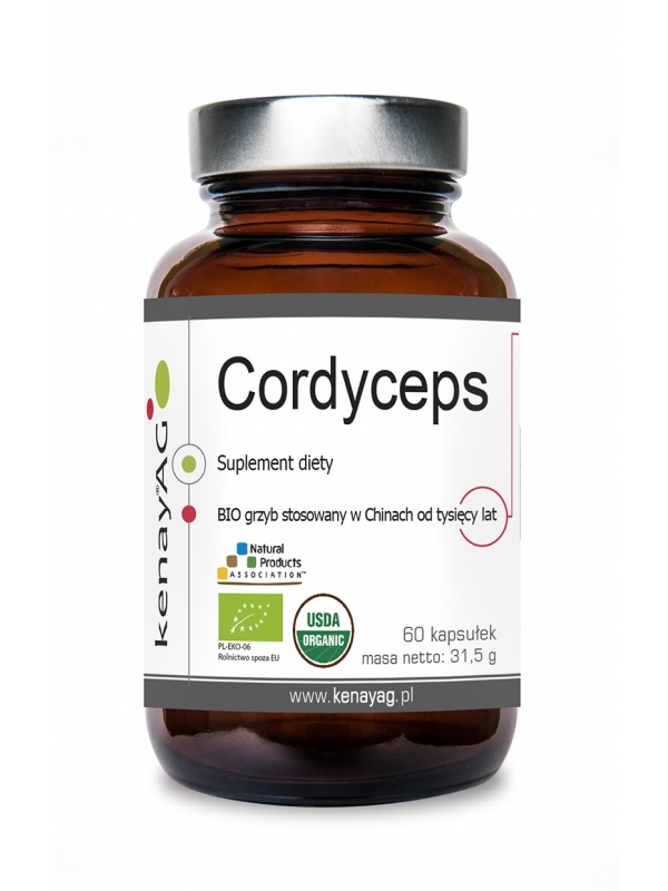 Pure Cordyceps Capsules (60 capsules) - 525 mg - dietary supplement