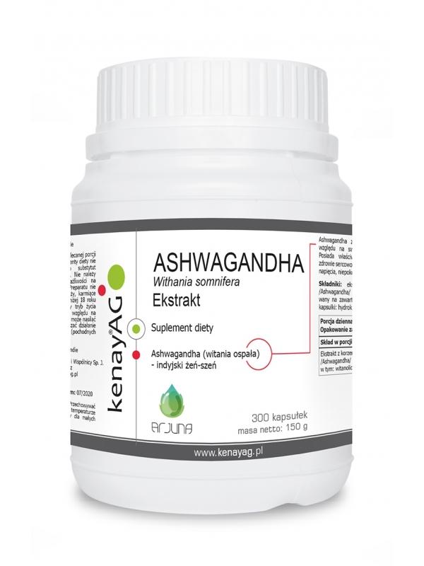 ASHWAGANDHA  - ekstrakt (300 kapsuÅek) - suplement diety