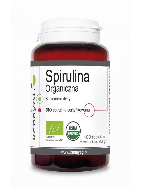 Organiczna Spirulina (180 tabletek) - suplement diety