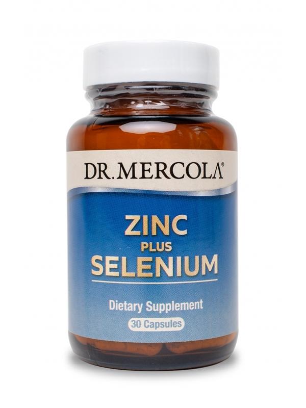 Cynk z selenem - Zinc plus Selenium (dr Mercola) (30 kapsułek) - suplementy diety