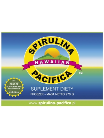 Spirulina Pacifica® hawajska w proszku (270 g) - suplementy diety