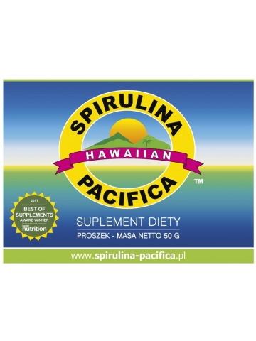 Spirulina Pacifica® hawajska w proszku (50 g) - suplement diety