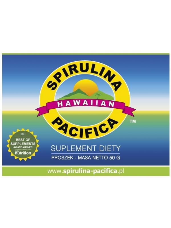 Spirulina Pacifica® hawajska w proszku (50 g) - suplement diety