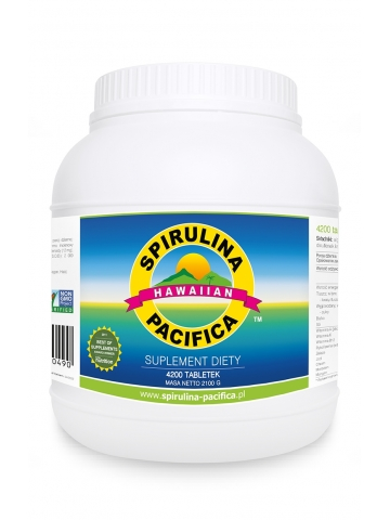 Spirulina Pacifica® hawajska 500 mg (4200 tabletek) - suplement diety