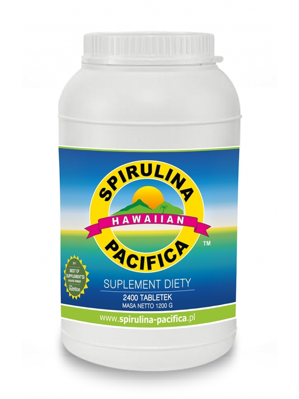 Spirulina Pacifica® hawajska 500 mg (2400 tabletek) - suplement diety