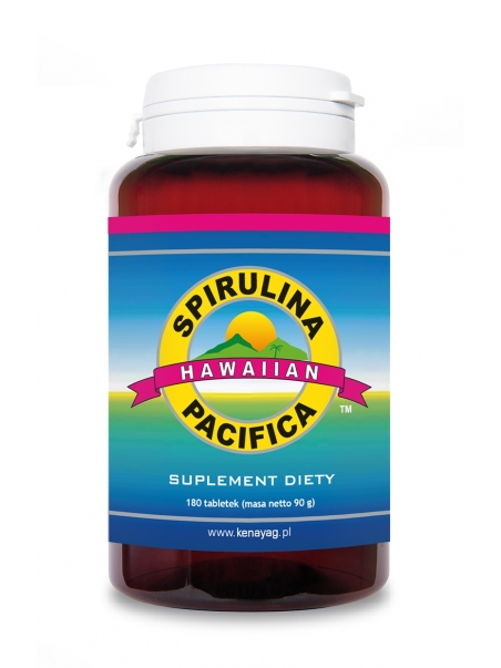 Spirulina Pacifica® hawajska 500 mg (180 tabletek) - suplement diety