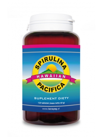Spirulina Pacifica® hawajska 500 mg (120 tabletek) - suplement diety