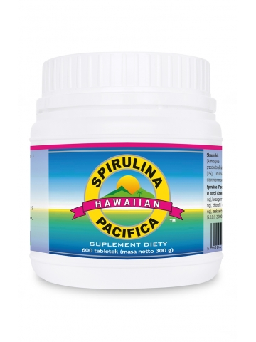 Spirulina Pacifica® hawajska 500 mg (600 tabletek) - suplement diety