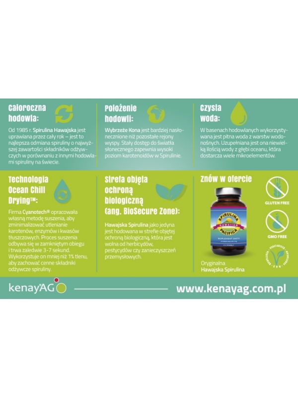 Spirulina Pacifica® hawajska 500 mg (4200 tabletek) - suplement diety