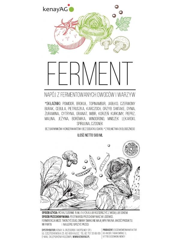 FERMENT – napój z fermentowanych owoców i warzyw (500 ml)