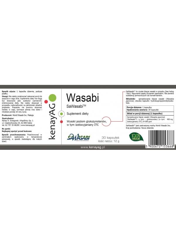 Wasabi  SaWasabi (30 kapsułek) - suplement diety