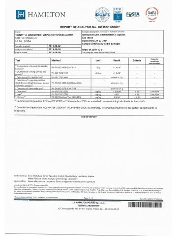 Ginkgo Biloba z Ginkgoselect® Phytosome®  (60 kapsułek) - suplement diety