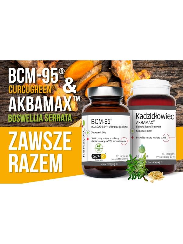 Kurkuma BCM-95 ® - czysty ekstrakt z kurkumy, 60 kapsułek (CURCUGREEN®)