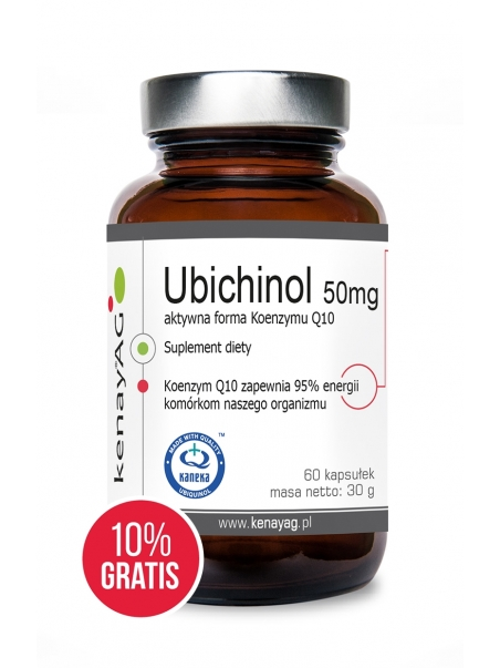 Ubichinol - Koenzym Q10 50 mg (60 kapsułek + 10% GRATIS)  - najnowsza technologia - suplement diety