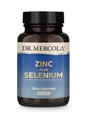 Cynk z selenem - Zinc plus Selenium (dr Mercola) (90 kapsułek) - suplementy diety