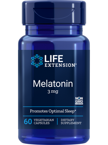 Melatonina 3 mg LifeExtension (60 kapsułek) - suplement diety