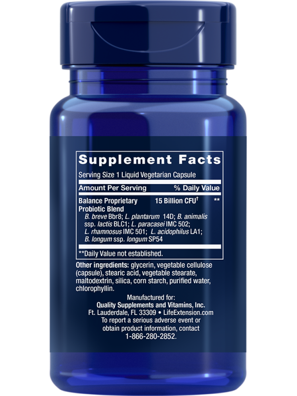 FLORASSIST Balance LifeExtension (30 kapsułek) - suplement diety