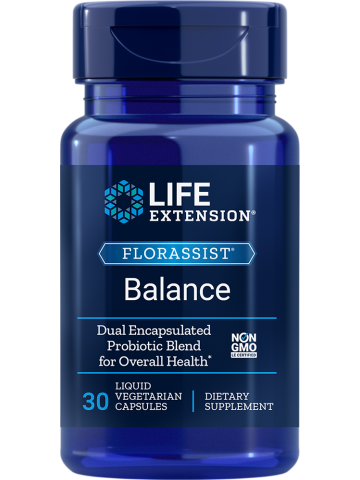 FLORASSIST Balance LifeExtension (30 kapsułek) - suplement diety