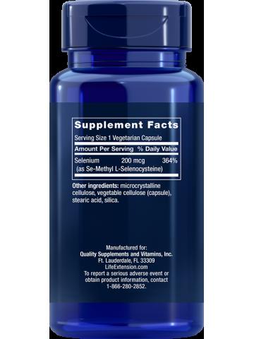 Selen - Se-Methyl L-Selenocysteine LifeExtension (90 kapsułek) - suplement diety
