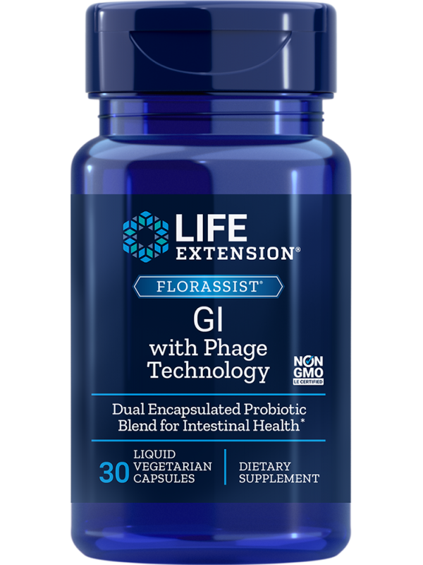 FLORASSIST® GI with Phage Technology LifeExtension (30 kapsułek) - suplement diety