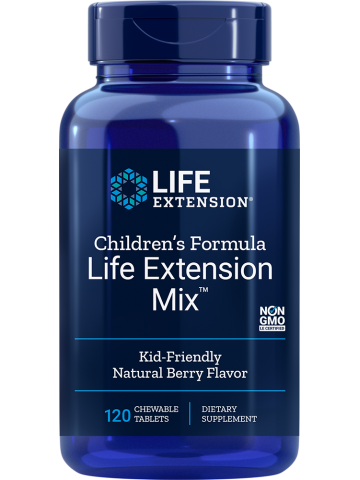 Children's Formula Life Extension Mix™ Multiwitaminy dla dzieci LifeExtension (120 tabletek do żucia) - suplement diety