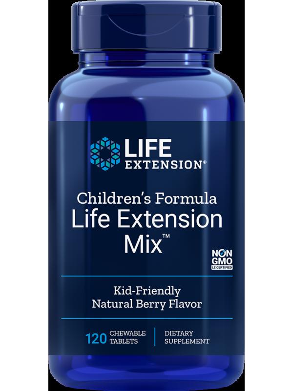 Children's Formula Life Extension Mix™ Multiwitaminy dla dzieci LifeExtension (120 tabletek do żucia) - suplement diety