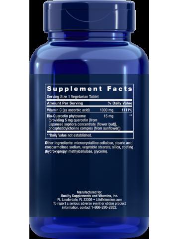 WITAMINA C Z BIO-KWERCETYNĄ FITOSOMOWĄ - Life Extension (250 tabletek)  - suplement diety