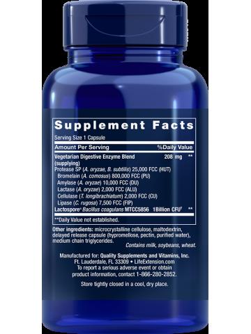 Enzymy - Enhanced Super Digestive Enzymes with Probiotics LifeExtension (60 kapsułek) - suplement diety