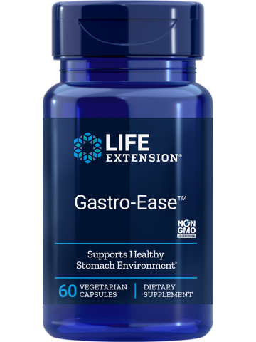 Gastro-Ease wspomaga zdrowe środowisko żołądkowe LifeExtension (60 kapsułek) - suplement diety