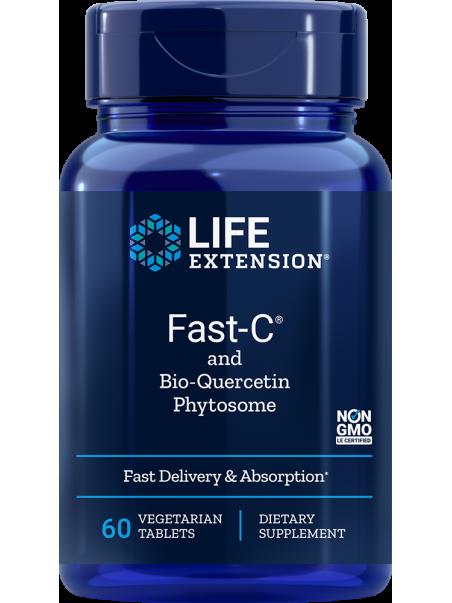 WITAMINA C Z DIHYDROKWERCETYNĄ Fast-C® LifeExtension (60 kapsułek vege) - suplement diety