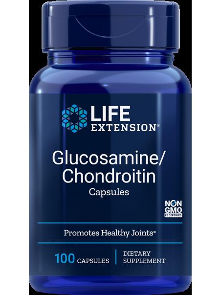 Glukozamina/chondroityna - Glucosamine/Chondroitin Capsules LifeExtension (100 kapsułek) - suplement diety