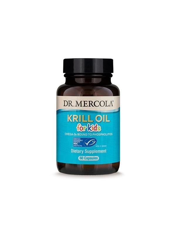 Olej z kryla dla dzieci  (dr Mercola) (60 kapsułek Licaps®) - suplement diety