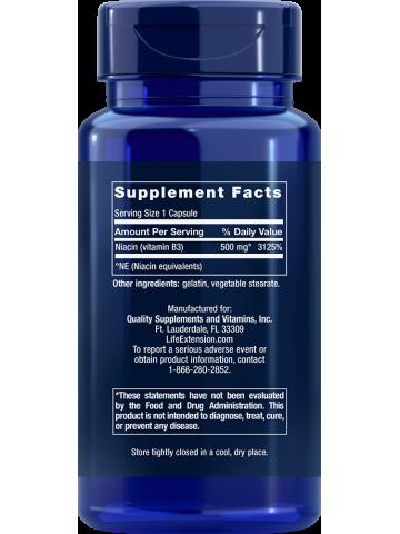 Witamina B3 Niacyna LifeExtension (100 kapsułek) - suplement diety