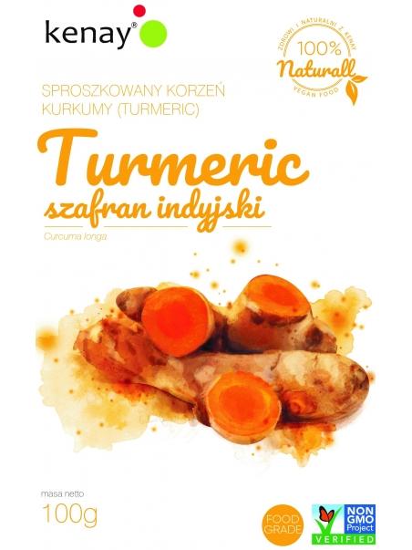 Kurkuma (Turmeric) - sproszkowany korzeń (curcuma longa) - 100 g