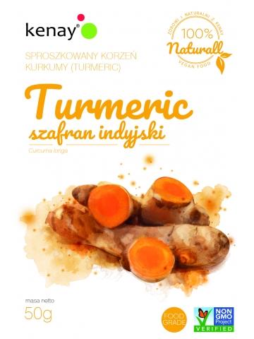 Kurkuma (Turmeric) - sproszkowany korzeń (curcuma longa) - 50 g