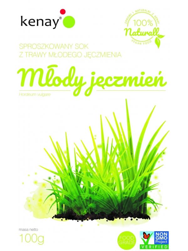 Trawa z młodego jęczmienia (Hordeum vulgare) - sproszkowany SOK - 100 g