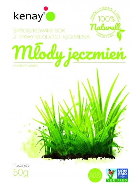 Trawa z młodego jęczmienia (Hordeum vulgare) - sproszkowany SOK - 50 g