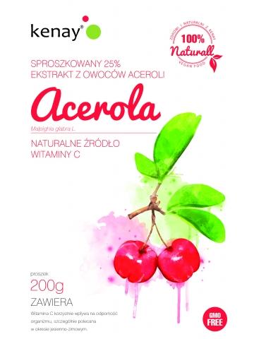 ACEROLA 25% - sproszkowany ekstrakt z owoców aceroli - 200 g