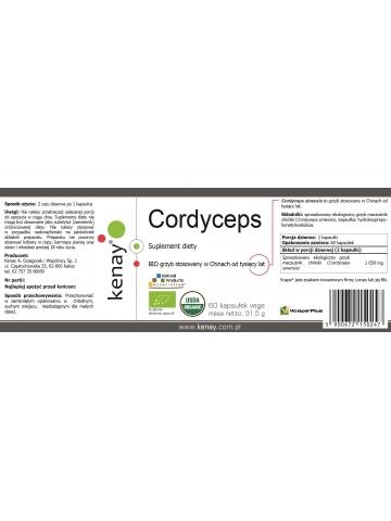 Cordyceps Sinensis BIO (60 kapsułek) - 525 mg - suplement diety