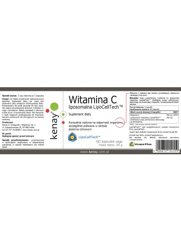 Witamina C liposomalna LipoCellTech™  (60 kapsułek vege) - suplement diety