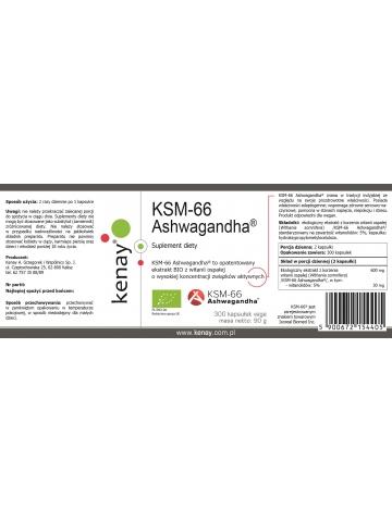 Ashwagandha KSM-66 BIO (300 kapsułek) - suplement diety